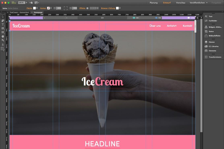 Adobe Muse zur Website-Erstellung