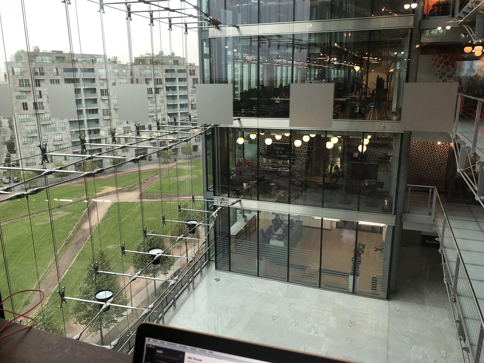 Coworking Space von außen (Sony Center)
