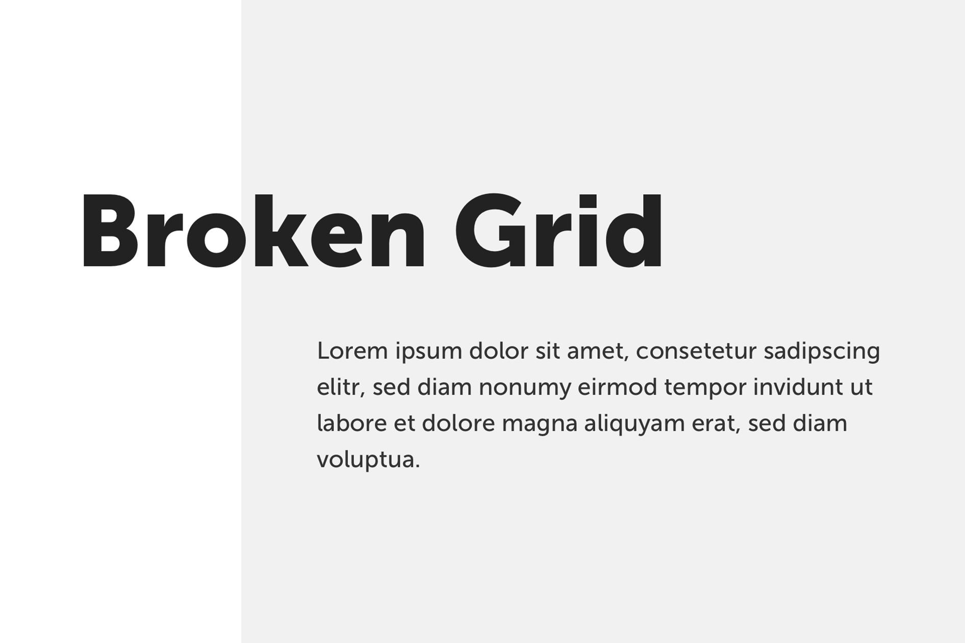 Beispiel für ein Broken Grid Design