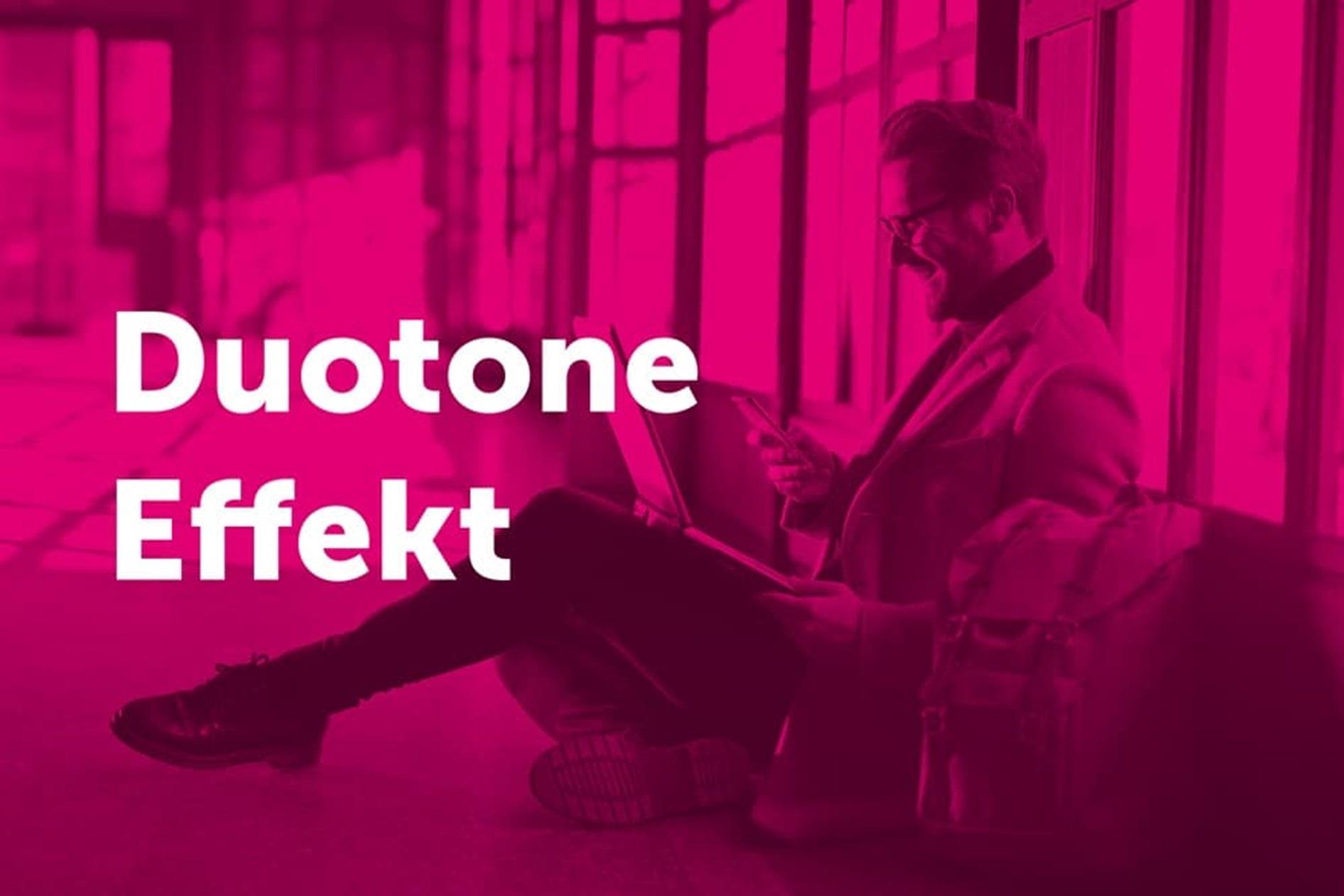 Duotone-Foto im Telekom-Look
