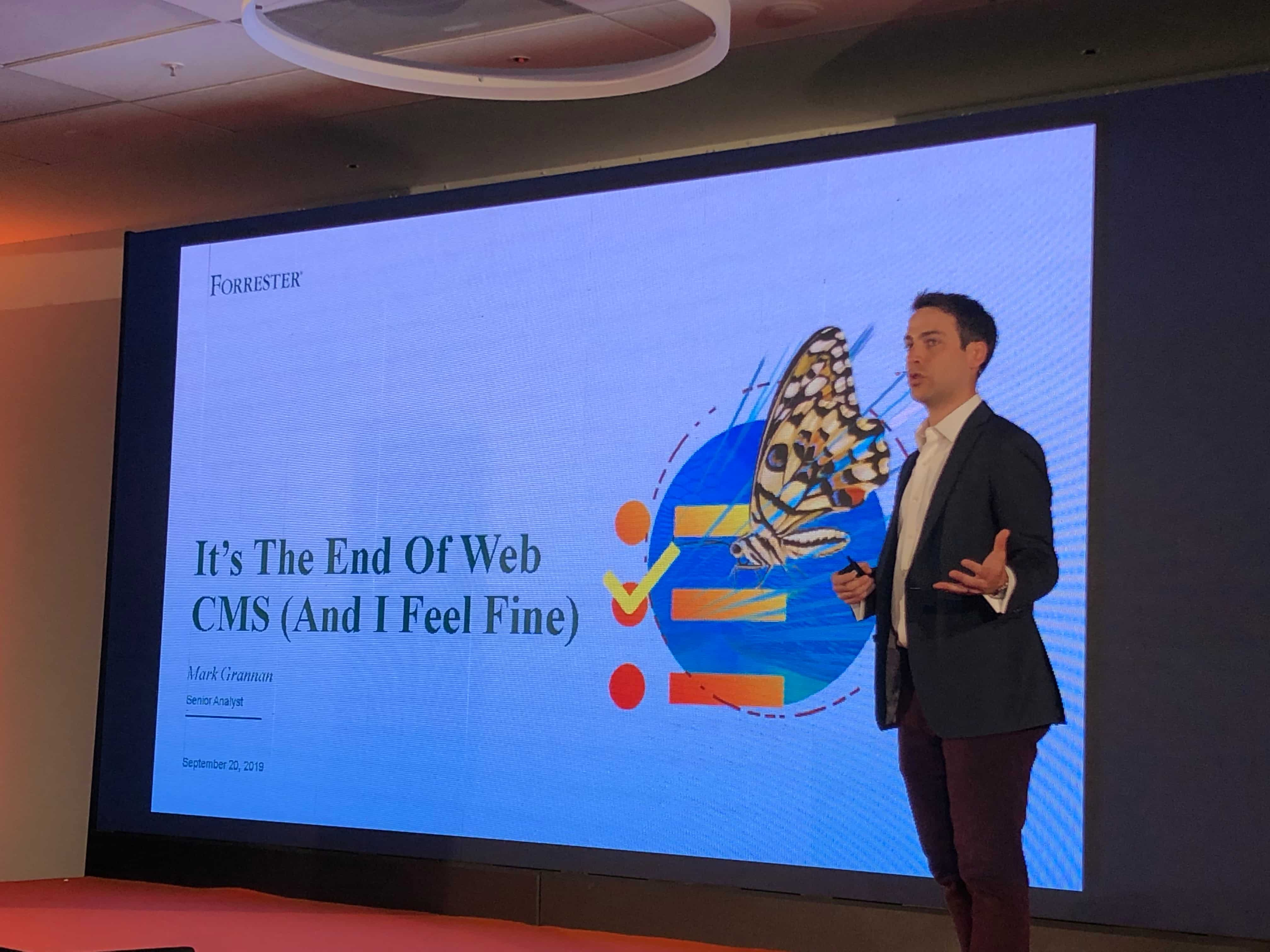 End of the Web CMS at Kentico Connection 2019