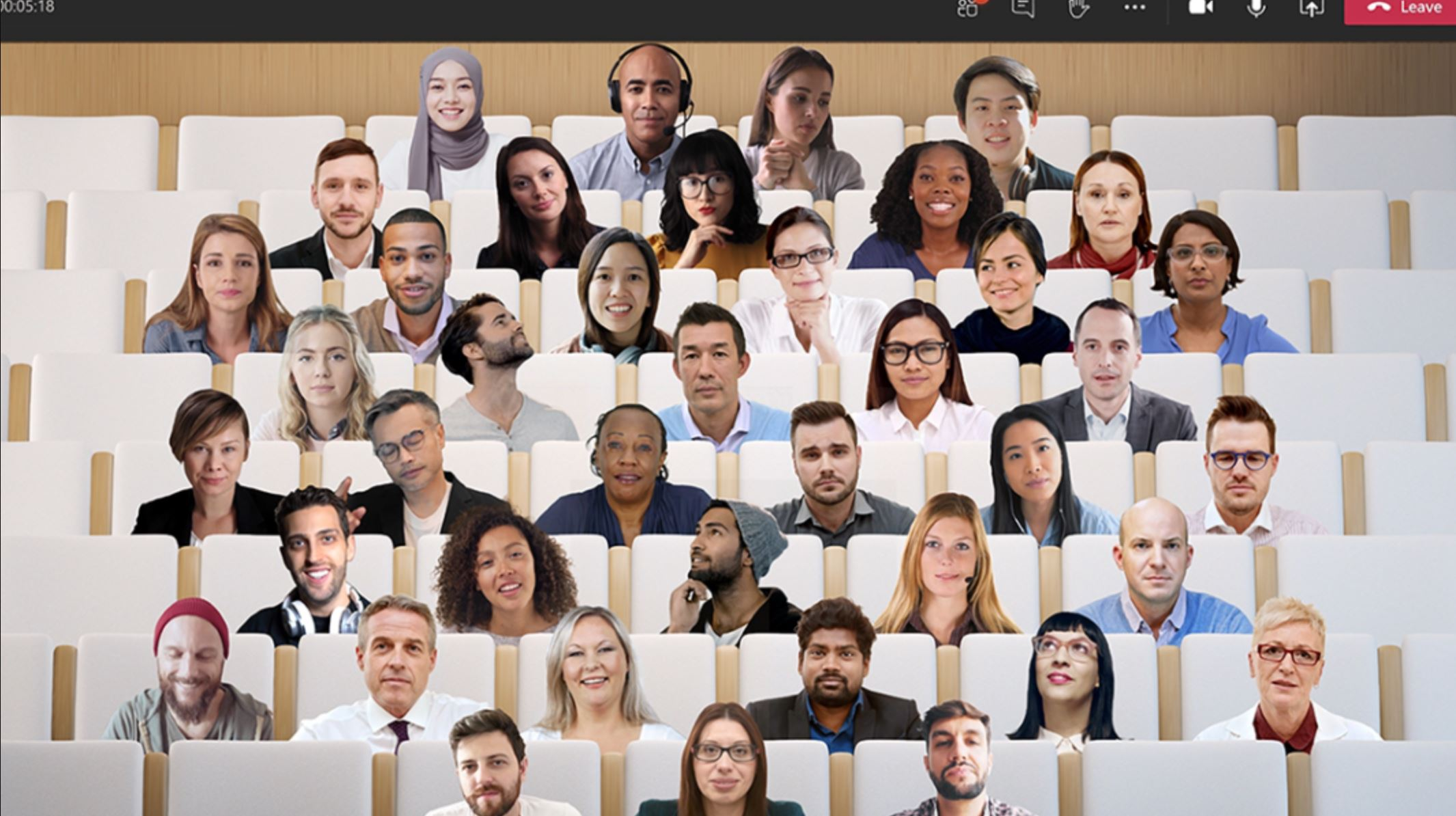 Microsoft Together Mode, Bild von Microsoft