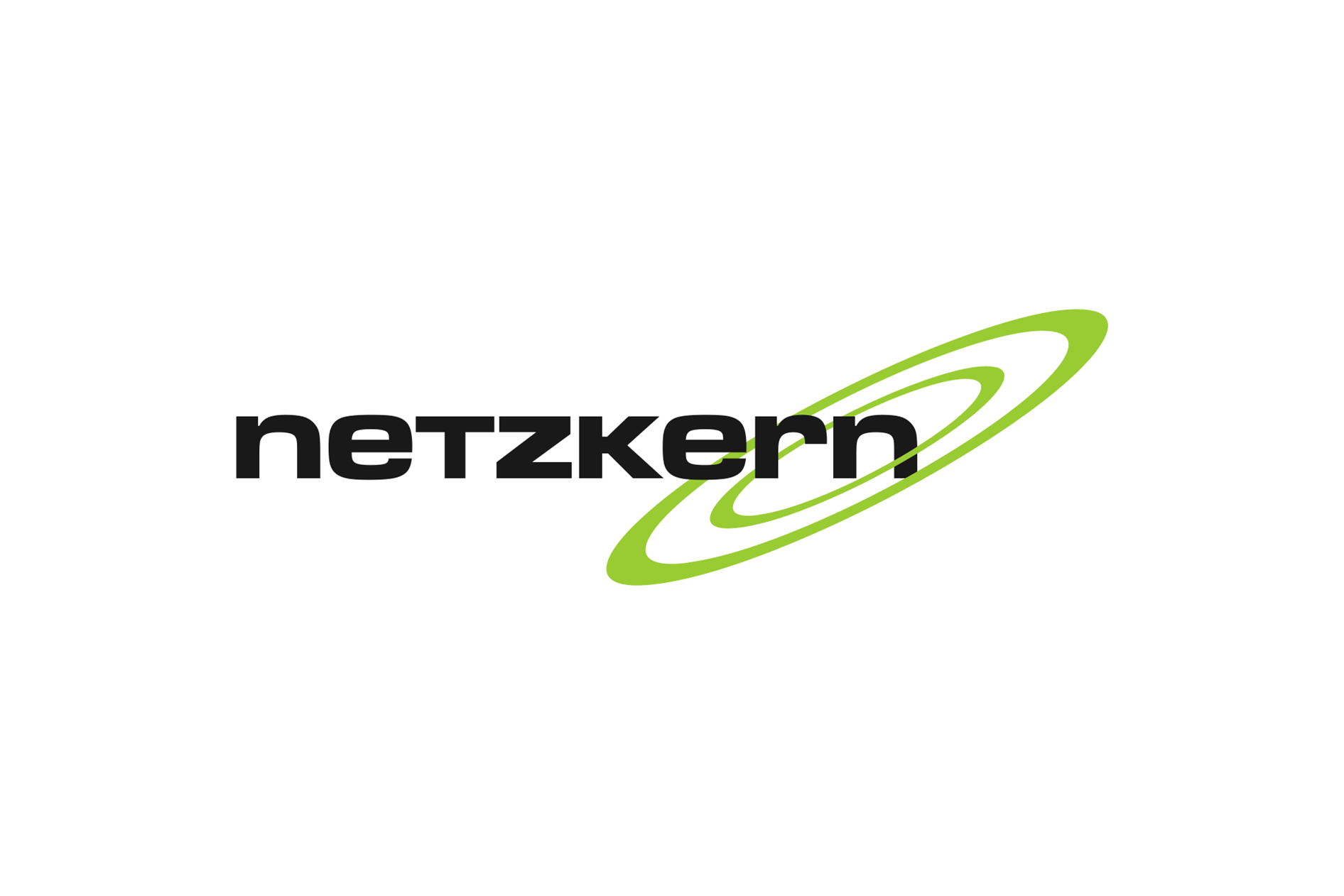 2001: netzkern Logo mit Swooshes