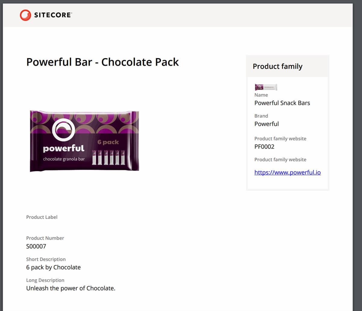 Powerful Bar - Produktkatalog in Sitecore Content Hub
