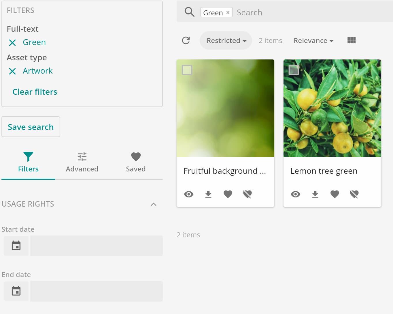 Sitecore Content Hub Search Grid