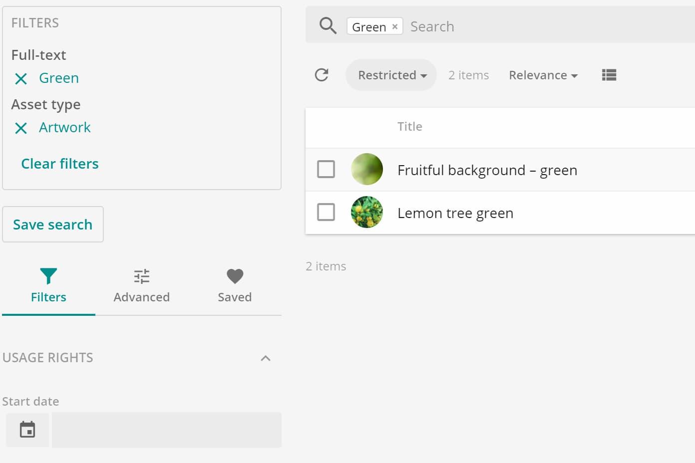 Sitecore Content Hub Search Table