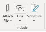 Outlook - Include Link