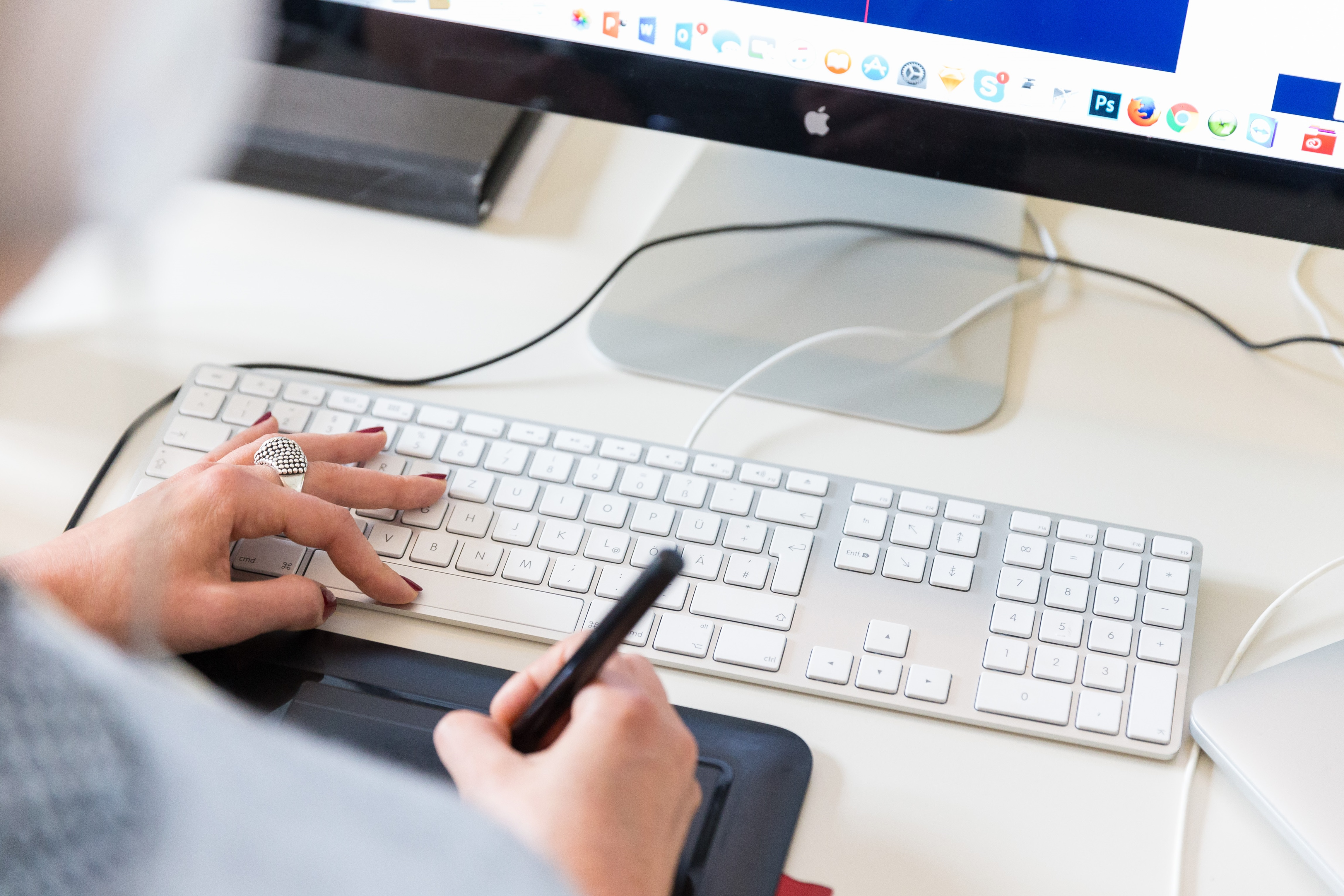 Tastatur-und-Zeichenbrett