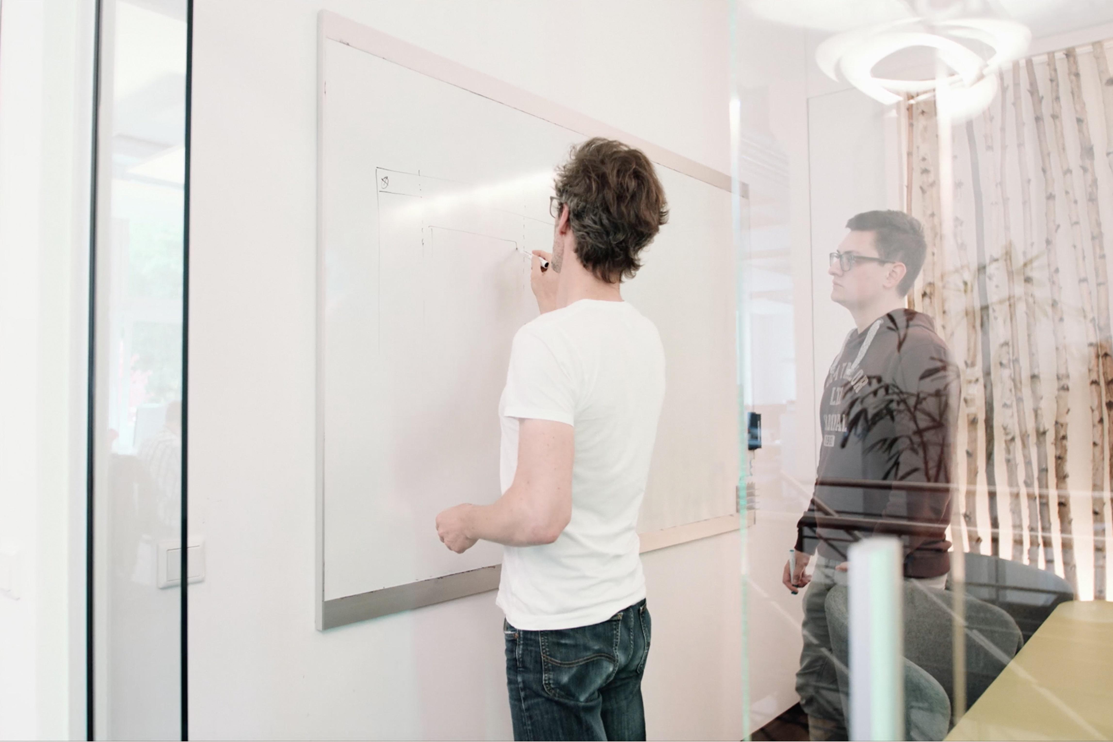 Konzeption auf dem Whiteboard