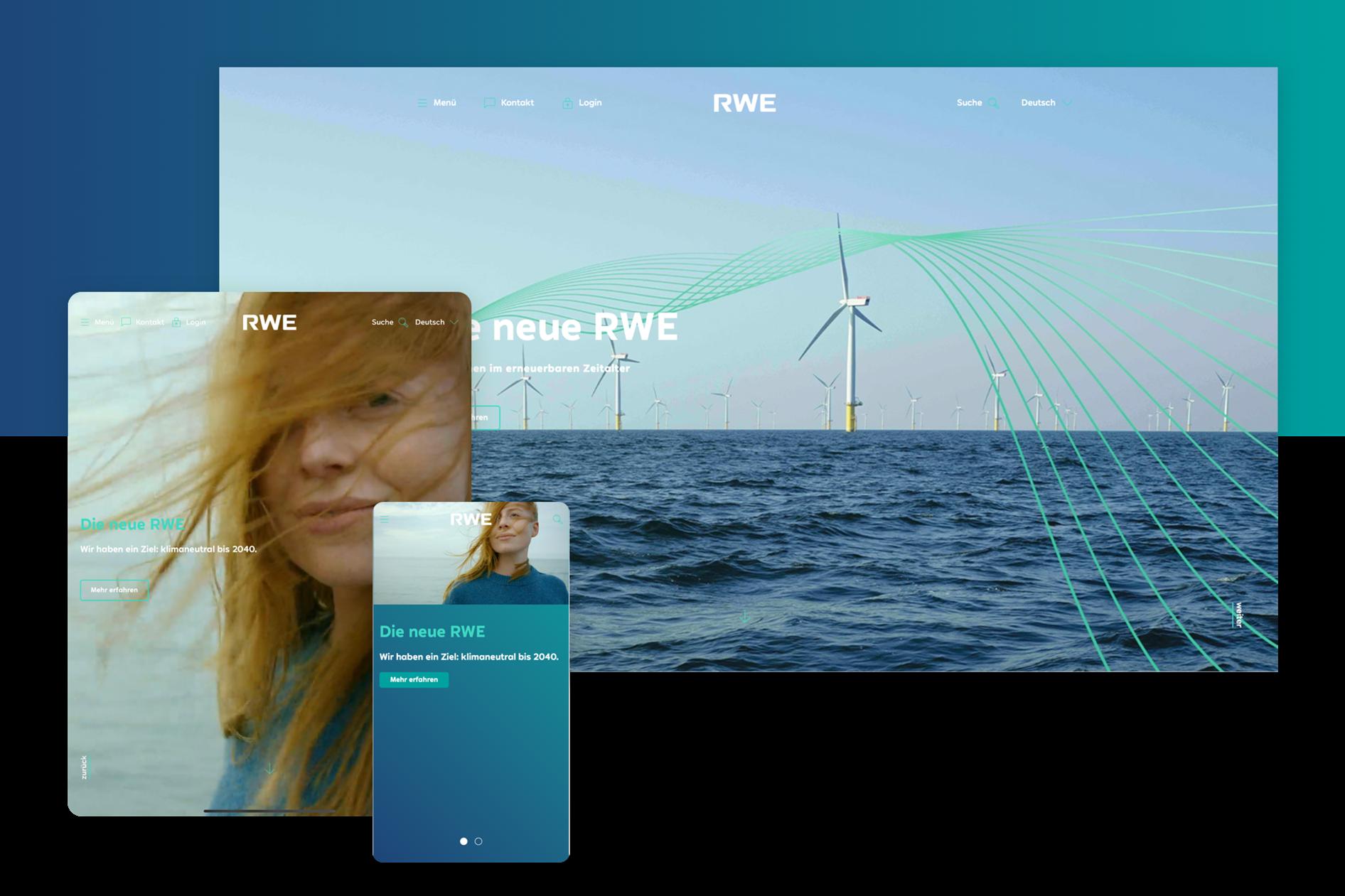 Neue RWE-Website