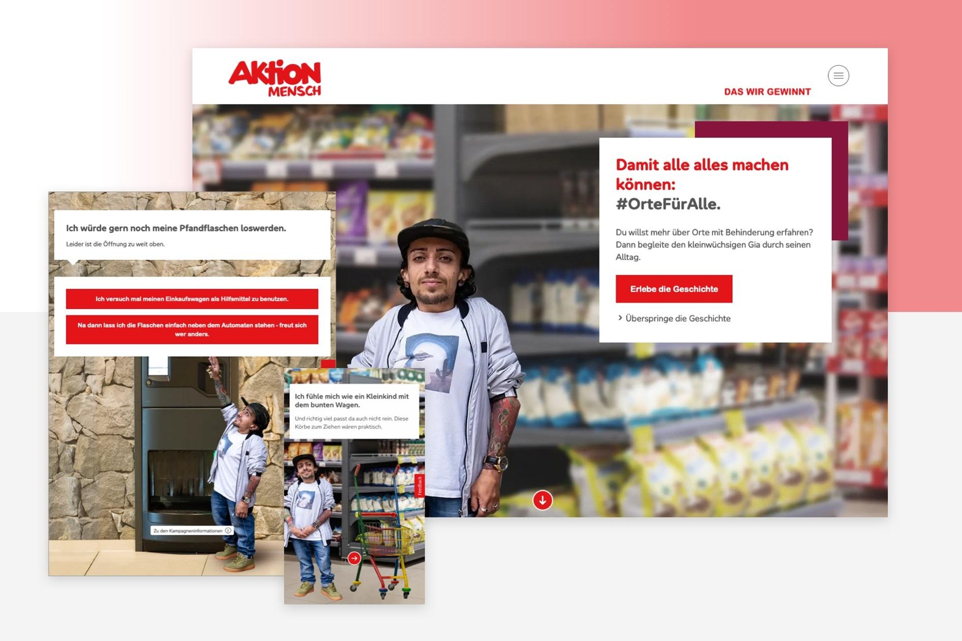 Aktion Mensch Kampagnenwebsite Orte mit Behinderung
