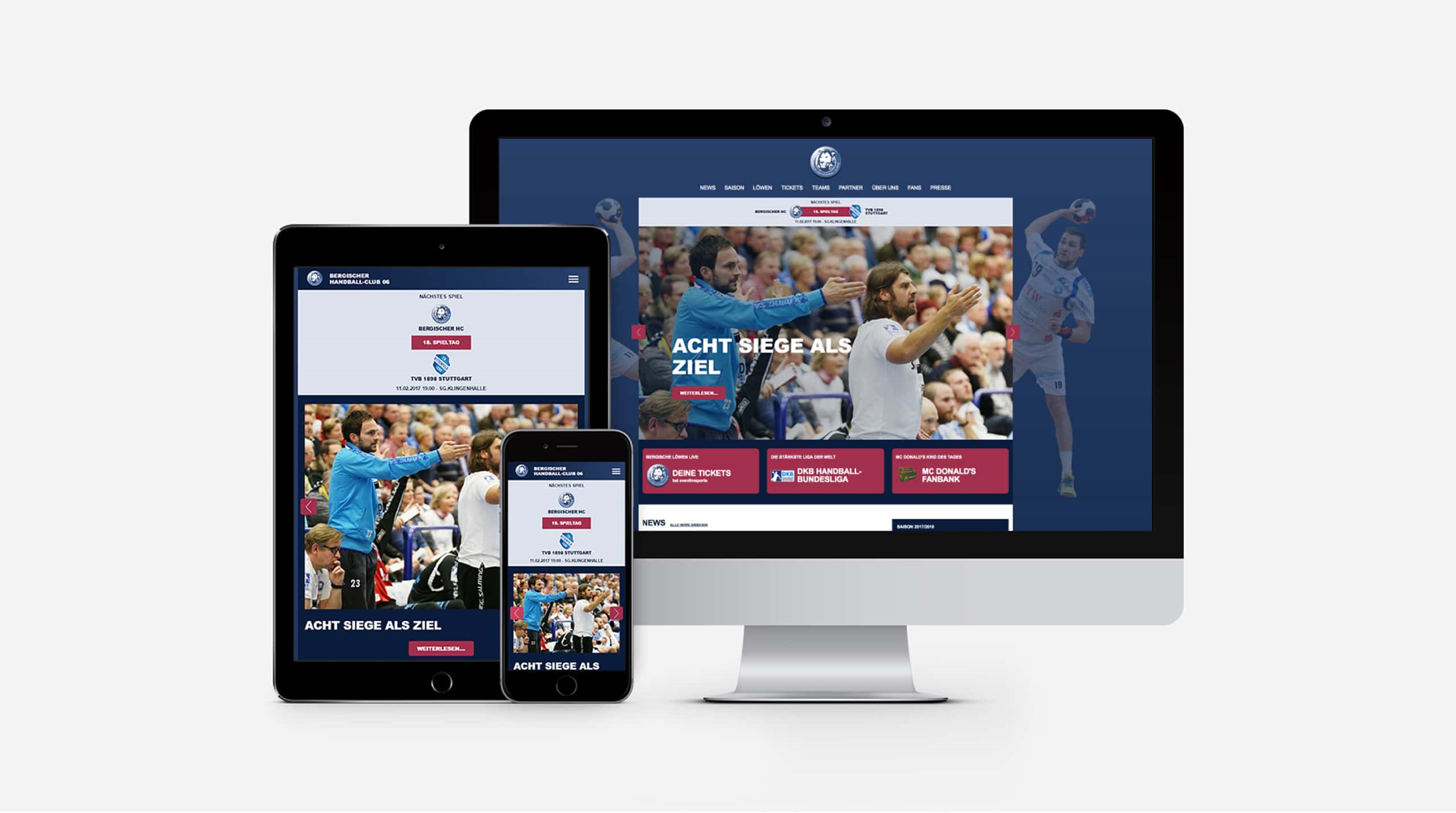 Bergischer Handballclub (BHC) - Smartphone/Desktop