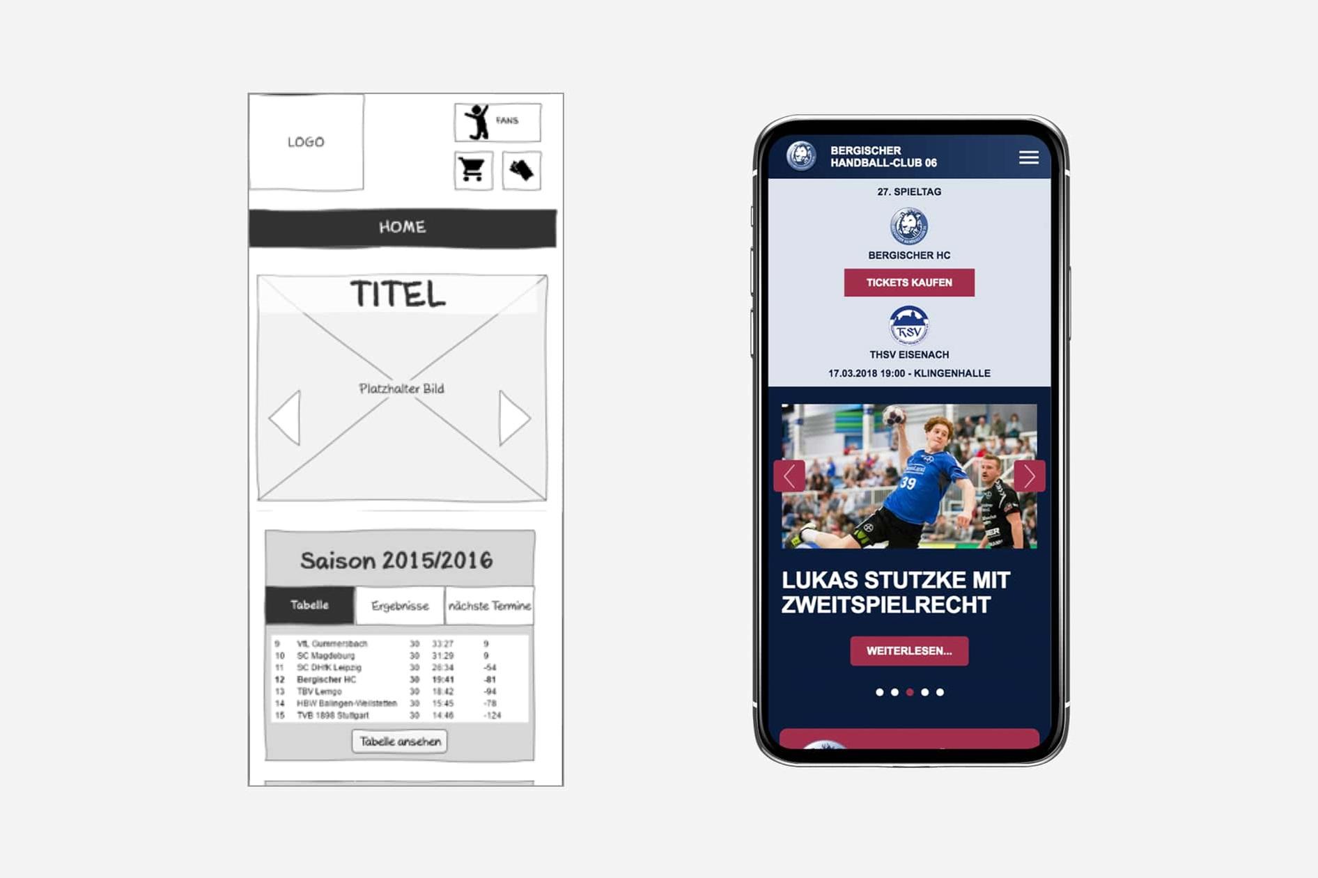 Bergischer Handballclub (BHC) - Smartphone