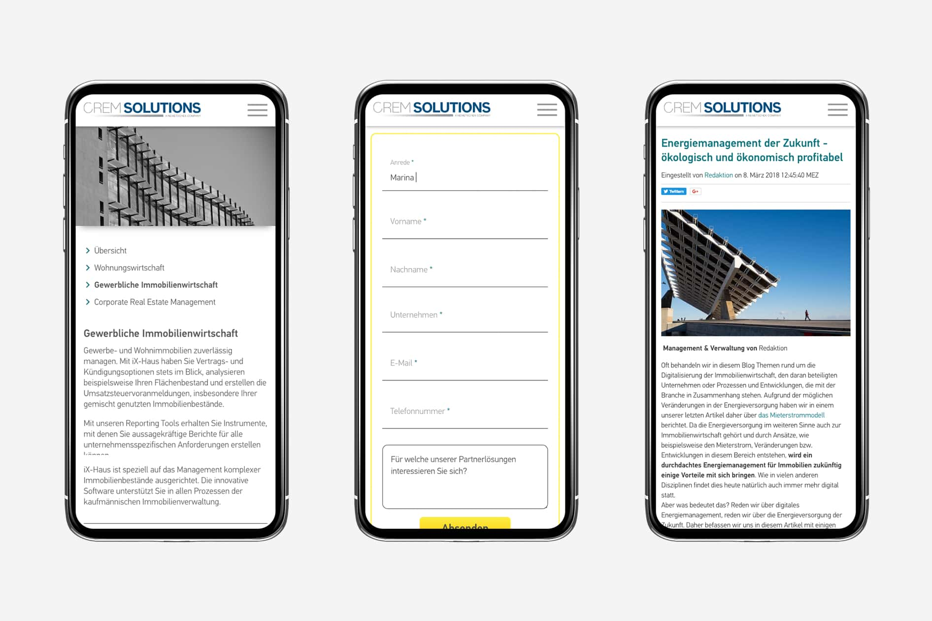 Crem Solutions (Smartphone)