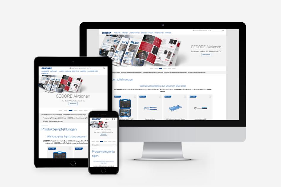 Gedore Website (alle Geräte)