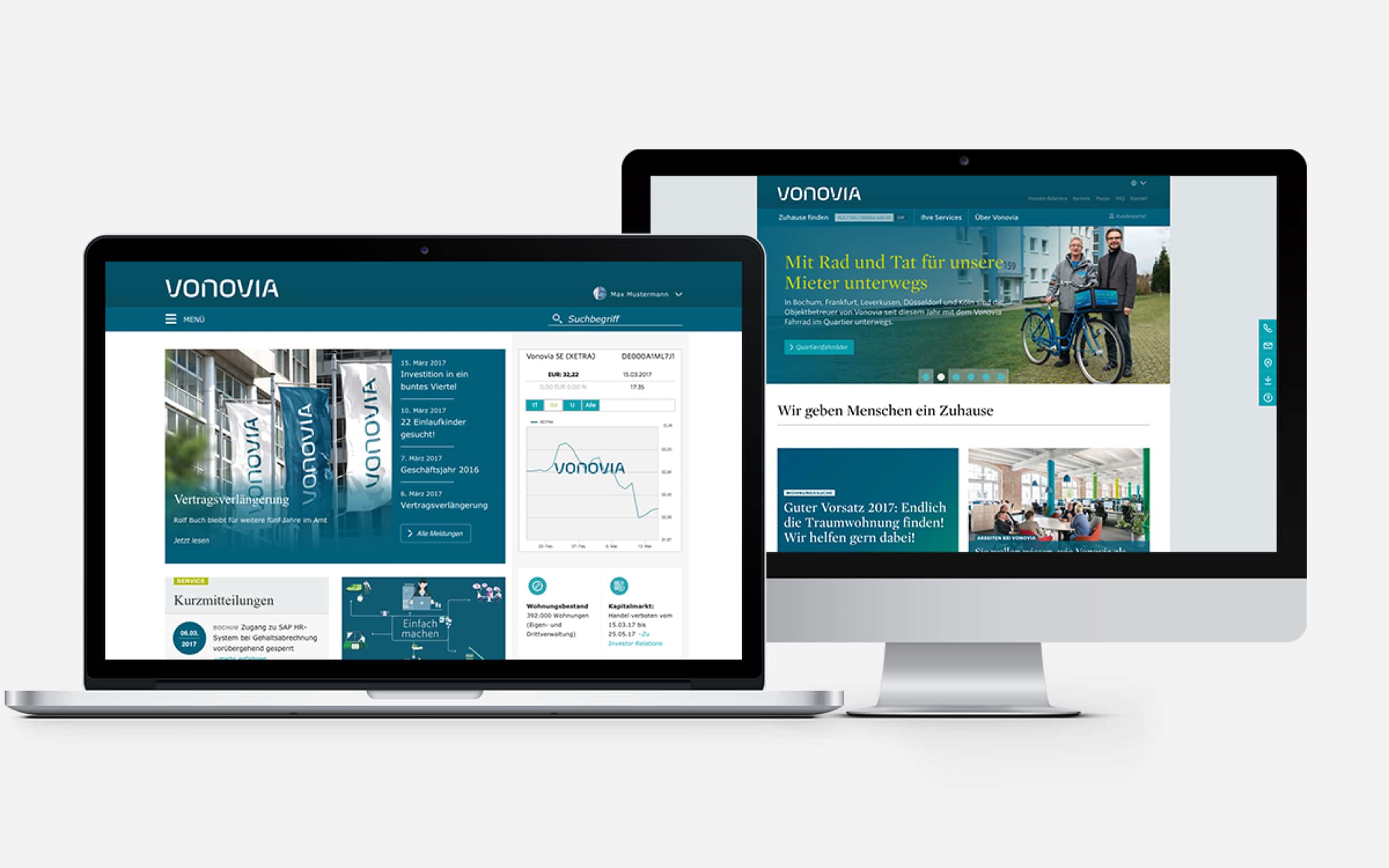 Vonovia Website (Laptop, Desktop)