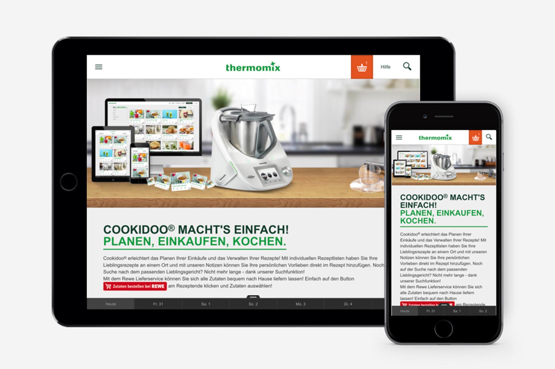 Vorwerk Thermomix - Cookiedoo: Planen, Einkaufen, Kochen