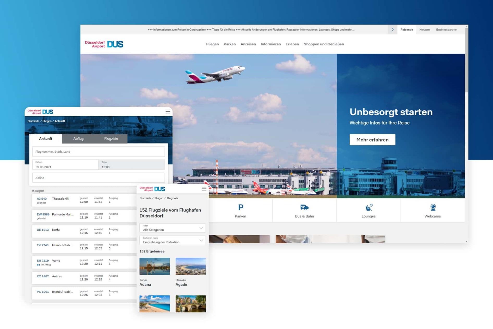 DUS Airport Website