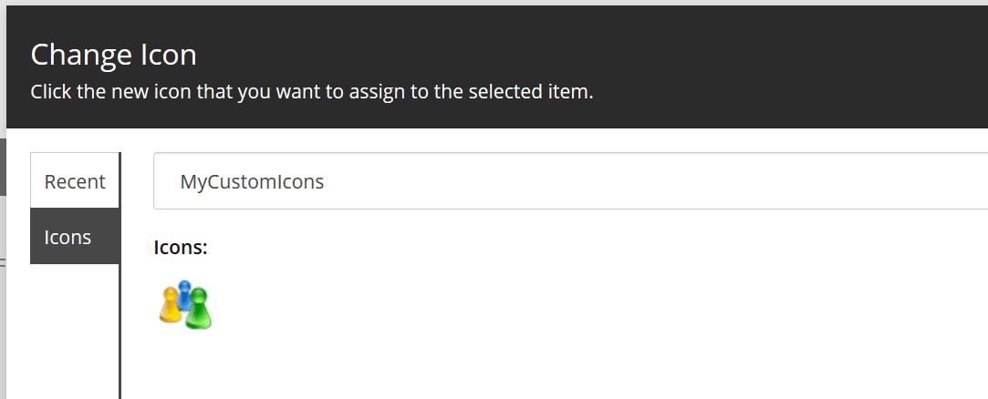 Beispiel eines Custom Icons für Sitecore 9