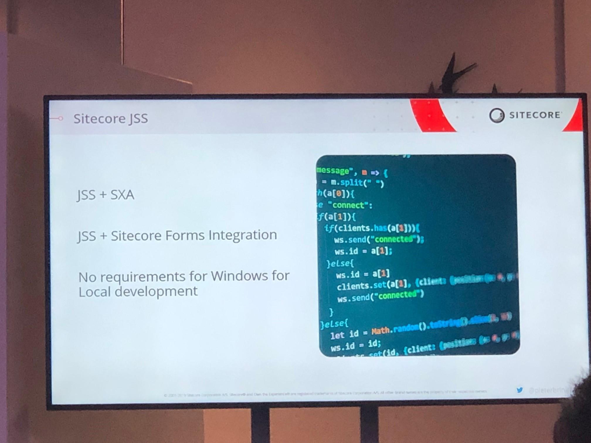 JSS supportet SXA und Forms!