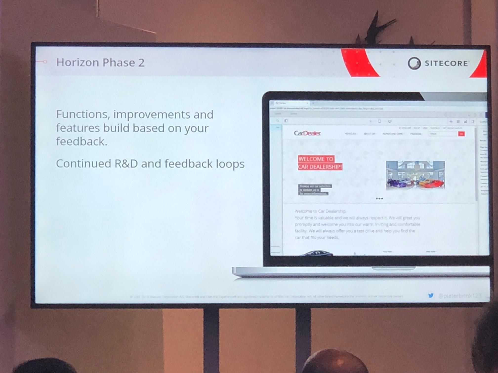 Für Horizon - die neue Experience Editor UI - wurde Phase 2 eingeleitet, nachdem MVPs und Partner die Möglichkeit hatten die aktuelle Version zu testen und ihr Feedback zu geben.