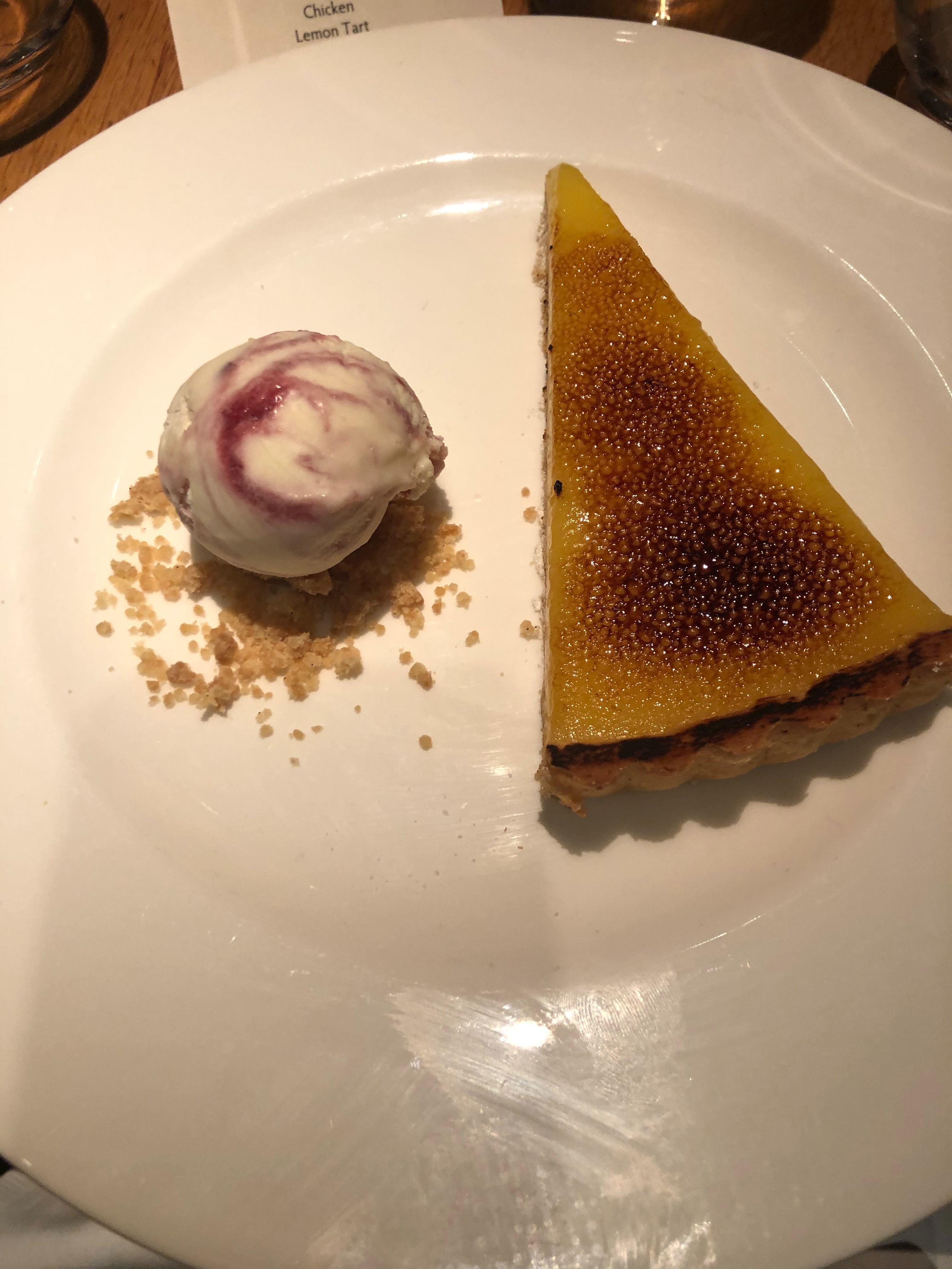 dinner - lemon tarte
