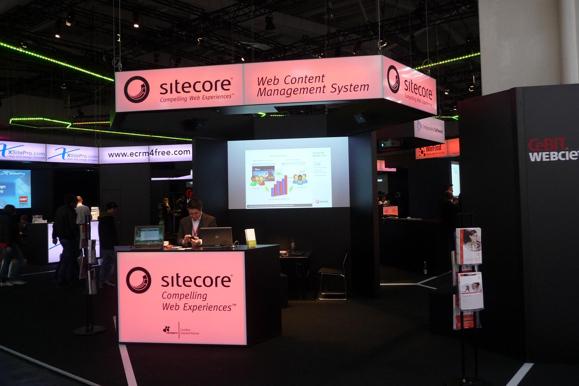 Erster Messeauftritt von Sitecore gemeinsam mit netzkern auf der CeBIT